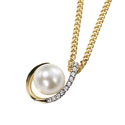9K Yellow Gold Diamond, Pearl Pendant GP542W from Elements Gold