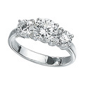 Silver Cubic Zirconia Ring From Elements Silver R2045C